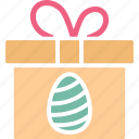 easter, easter gift, gift box, gift pack icon