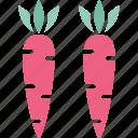 carrots, fruit, nutrition, organic icon