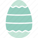 decorated egg, decoration, dotted lines, easter icon