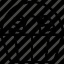 basket, easter, food, fruit icon