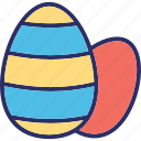 break egg, decorative egg, easter, easter egg icon
