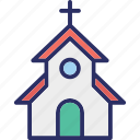 christians building, church, church building icon
