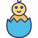celebrate, chicken egg, easter, egg icon