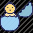 broken egg, chick, easter, egg icon