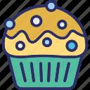 cupcakes, dessert, fairy cake, muffin icon