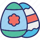 decorated eggs, easter, eggs, flower eggs icon