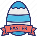 easter decoration, easter egg, egg badge, egg ribbon icon