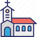 building, chapel, church, church building icon