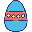 decorate, dotted egg, easter egg, paschal egg icon
