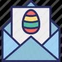 easter, envelope, festival, invitation icon