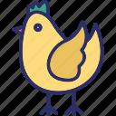 chicken, cock, cockerel, hen icon
