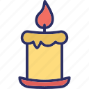 candle, celebration, decoration, easter icon