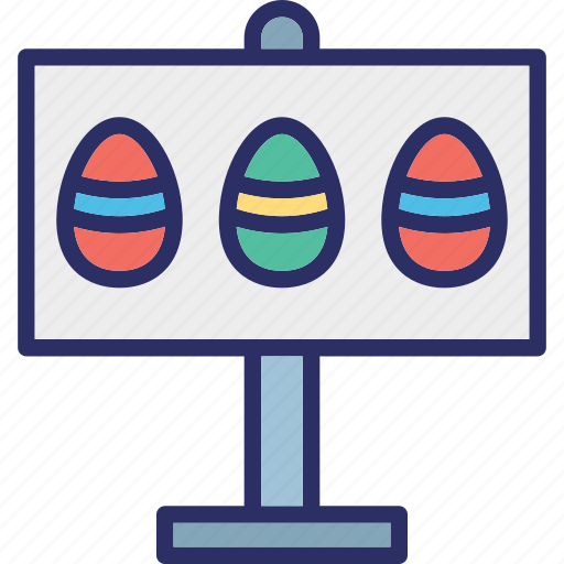 board, easter, easter board, easter eggs icon
