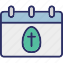 calendar, easter, easter day, happy easter icon