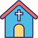 chapel, christians building, church, church building icon
