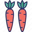 carrots, fruit, nutrition, organic icon