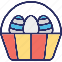 basket, easter, food, fruit icon