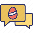 bubbles, chatting, comments, easter icon