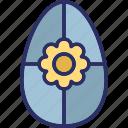 decorative, easter egg, egg flower, festival icon