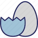 broken egg, decorated egg, decoration, easter icon