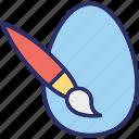 art, art brush, color plate, paint brush icon