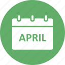 april, calendar, easter date, easter day icon