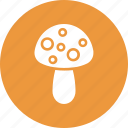 food, food ingredient, fruit, mushroom icon