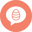 bubble, chat, comments, easter icon