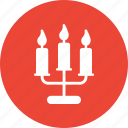 candle, celebration, decoration, street candle icon