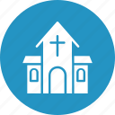 christians building, church, church building, church building vector icon