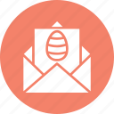easter, envelope, festival, invitation icon