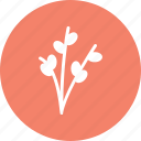branch, decoration, easter branch, mistletoe icon