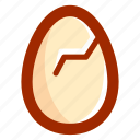 broken, easter, easteregg, egg, food, shell icon