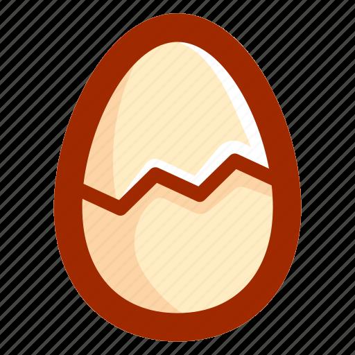 broken, easter, easteregg, egg, food, shell icon
