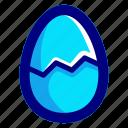 blue, broken, egg
