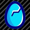 blue, broken, easter, easteregg, egg, food, shell