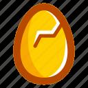 broken, easter, easteregg, egg, food, shell, yellow