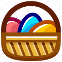 basket, easter, easteregg, egg, eggs, food icon