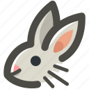 animal, bunny, ears, easter, grey, head, rabbit icon