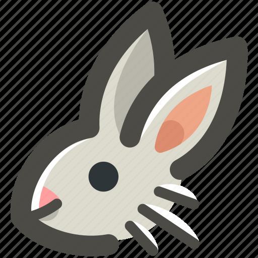 animal, bunny, ears, easter, grey, head, rabbit icon