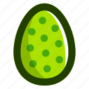 dots, easter, easteregg, egg, food, green, pattern icon