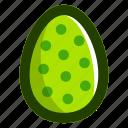 dots, easter, easteregg, egg, food, green, pattern