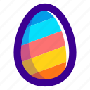 easter, easteregg, egg, food, pattern, stripes icon
