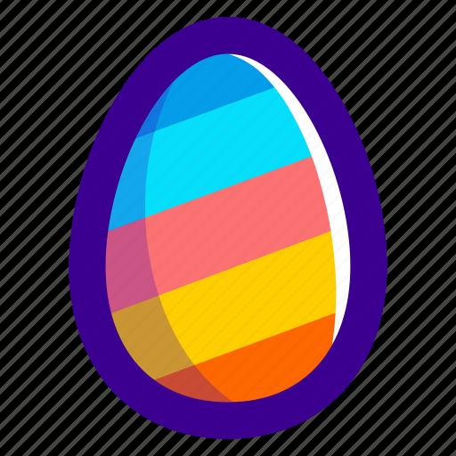 easter, easteregg, egg, food, pattern, stripes icon