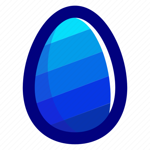 blue, easter, easteregg, egg, food, pattern, stripes icon