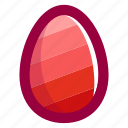 easter, easteregg, egg, food, pattern, pink, stripes icon