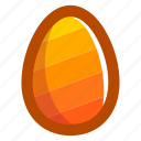 easter, easteregg, egg, food, pattern, stripes, yellow icon