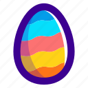 easter, easteregg, egg, food, pattern, waves icon