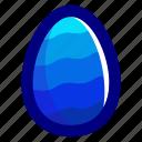 blue, easter, easteregg, egg, food, pattern, waves