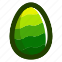 easter, easteregg, egg, food, green, pattern, waves icon